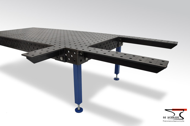 Welding table extension short and long