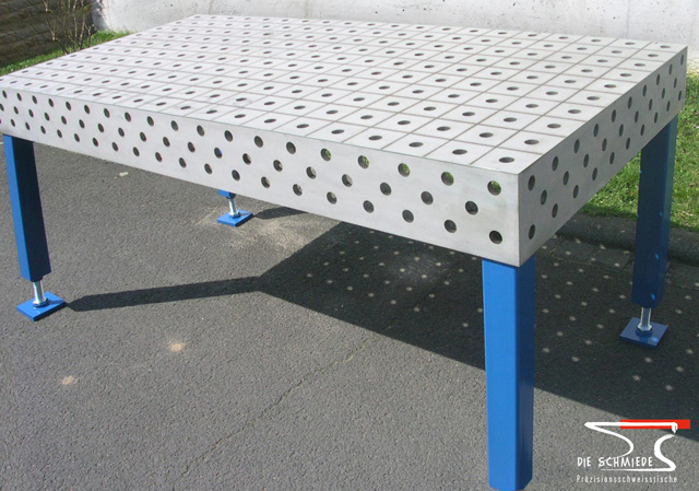 Stainless steel welding table 01