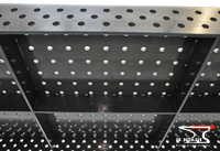 View on lower surface of the welding table